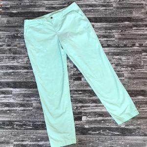 Khakis by Gap broken in straight pants mint green